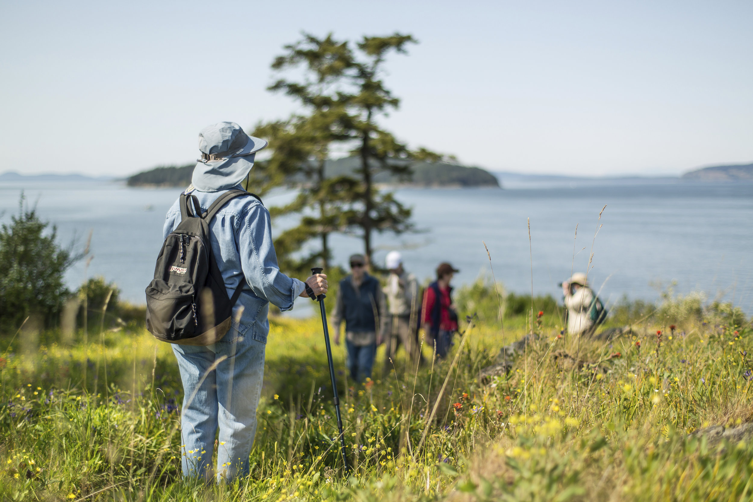 TNC member excursion to Yellow Island Preserve in the San Juan islands of Puget Sound. Photo by Cameron Karsten.