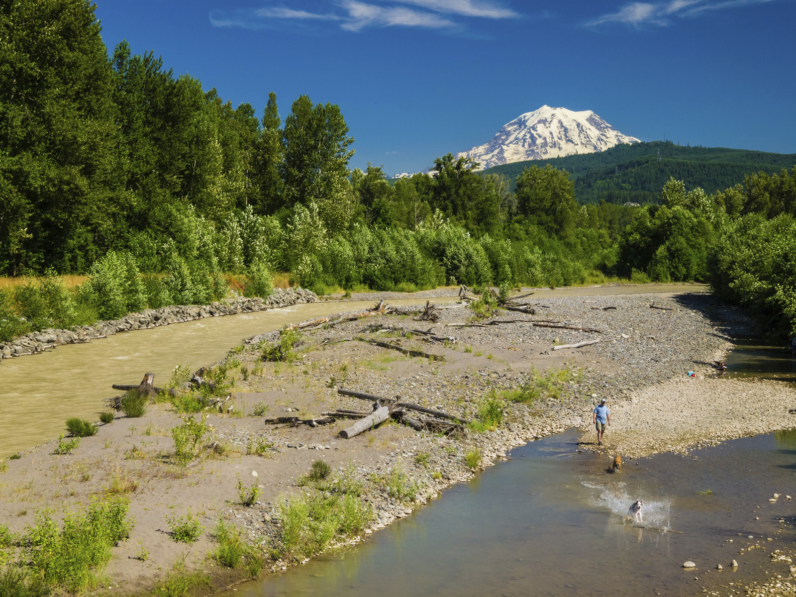 Recreation on the Puyallup River in Pierce County is accessible to more families thanks to LWCF funding. Photo by Keith Lazelle.