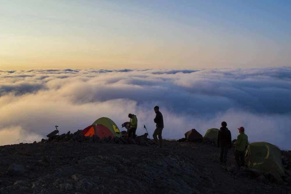 In the North Cascades, campers enjoy the sunset in the Mount Baker – Snoqualmie National Forest in Whatcom County, protected by LWCF. Photo by Jacob Hall