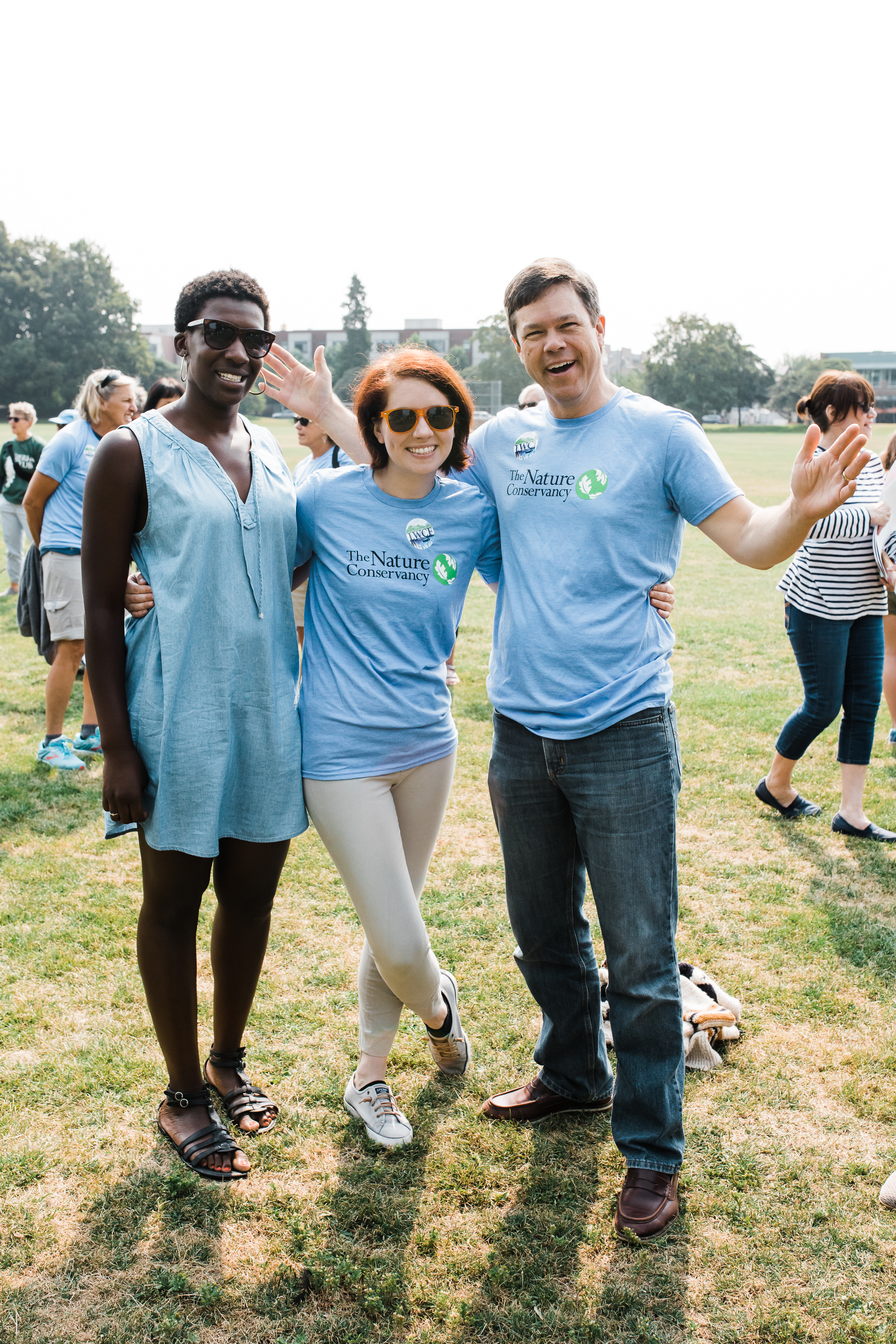 TNC staffers Iris, Courtney and Jeff are really enjoying Green Lake Park on a Monday morning. Photo by Stevie Rotella