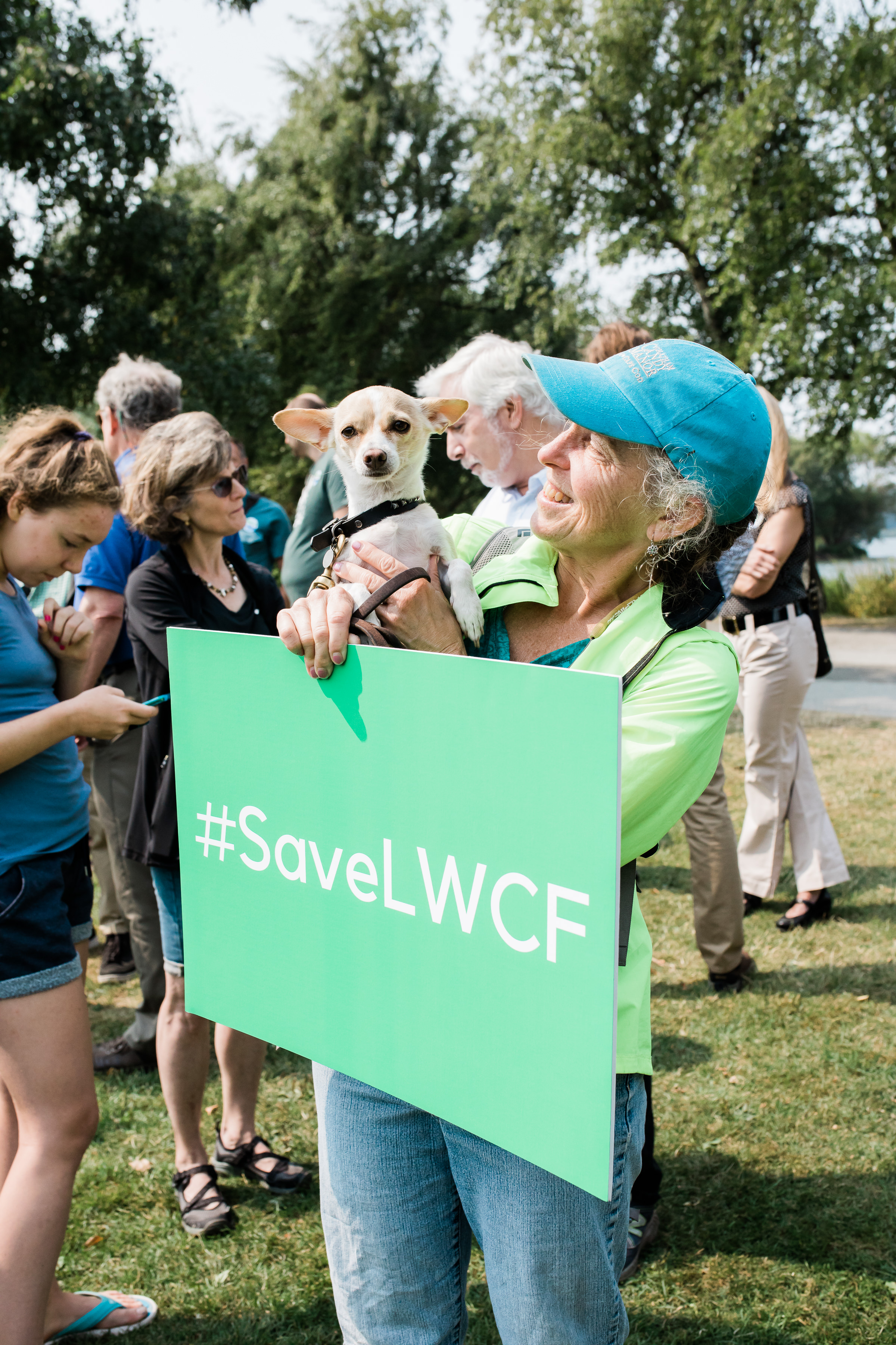 Our furry friends love LWCF – at least a dozen showed up with their people to raise their voices for public lands too. Photo by Stevie Rotella
