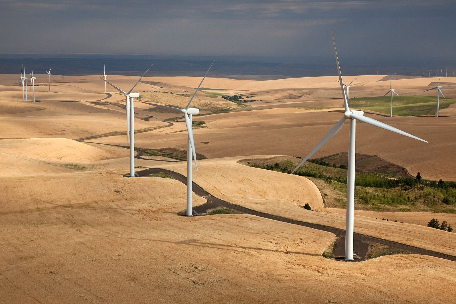 Wind Turbines in Eastern Washington. Photo  ©  Jeffrey G. Katz / Used by CC by 2.0