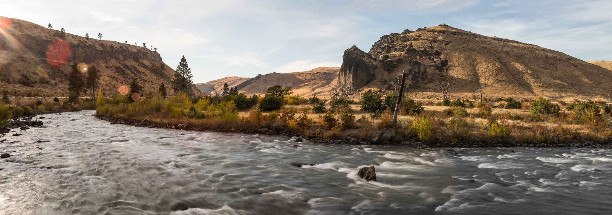 The river rushes through the Tieton Canyon as summer turns to fall near Yakima, WA. Photo by Cameron Karsten.
