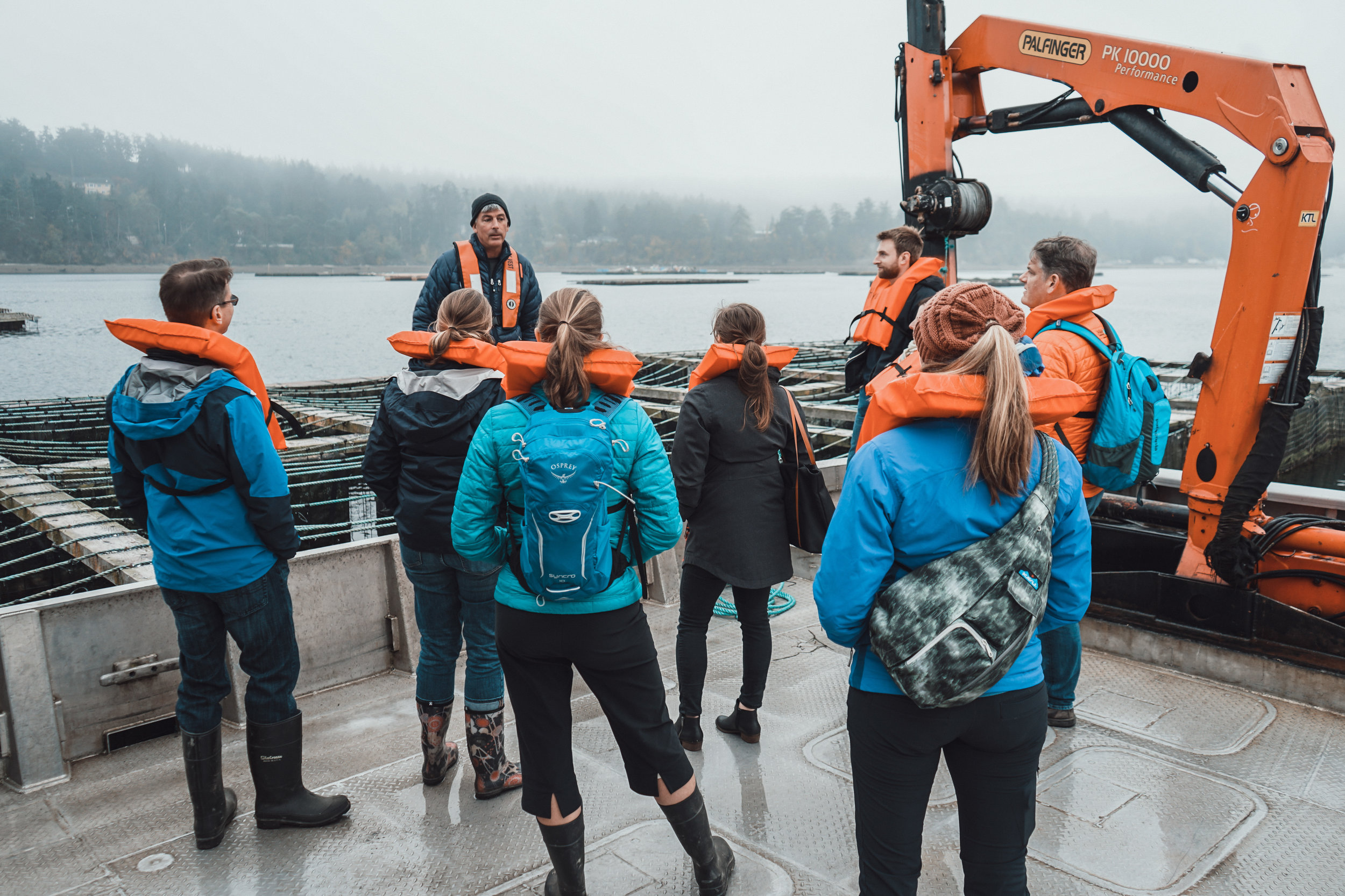 Nature Conservancy staff visited Penn Cove Shellfish Farm