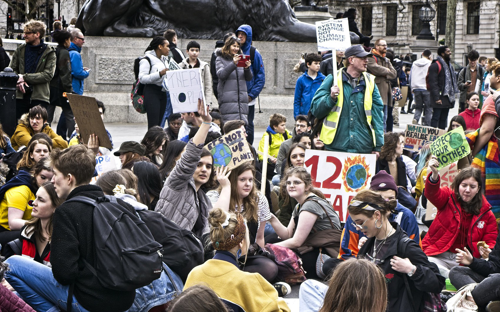 The Youth Climate Strike in London on March 15. Photo by Garry Knight, used via CC0 1.0