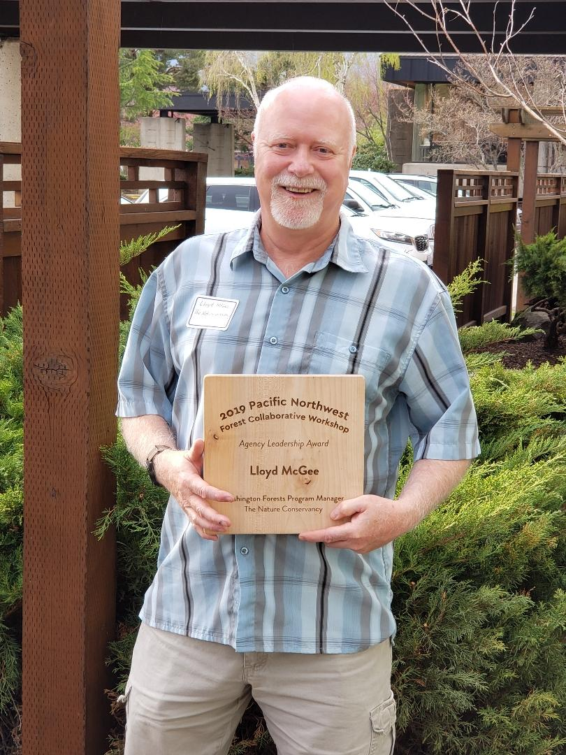 Lloyd McGee was honored at the Pacific Northwest Collaborative Conference.
