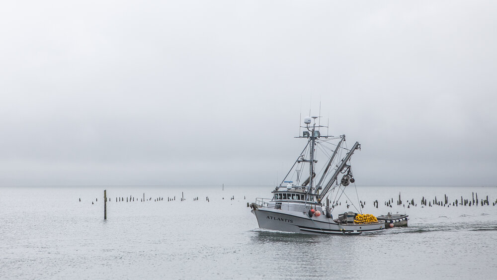 The Port of Ilwaco, located at the mouth of the Columbia River in Ilwaco, Washington. Photo credit: © Erika Nortemann