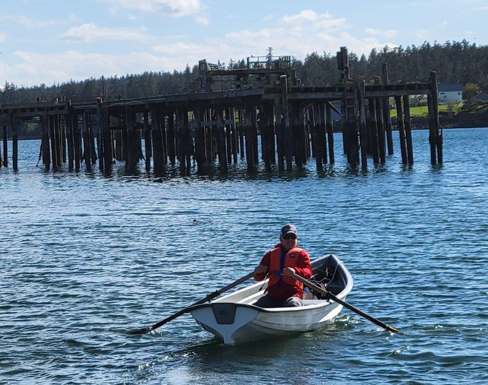 Matt Axling at the oars.