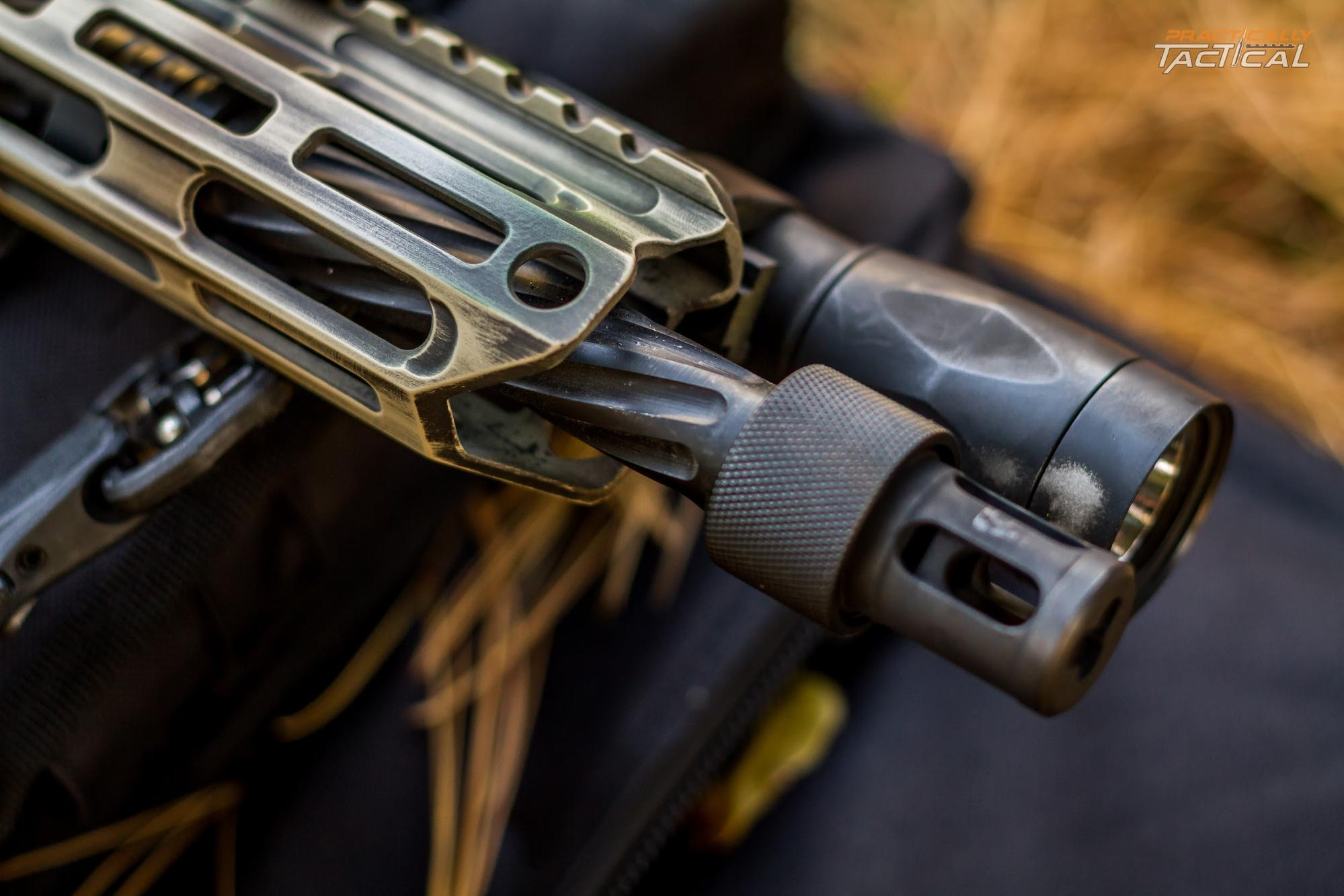 The spiral fluting on the barrel helps to dissipate heat and reduces weight.