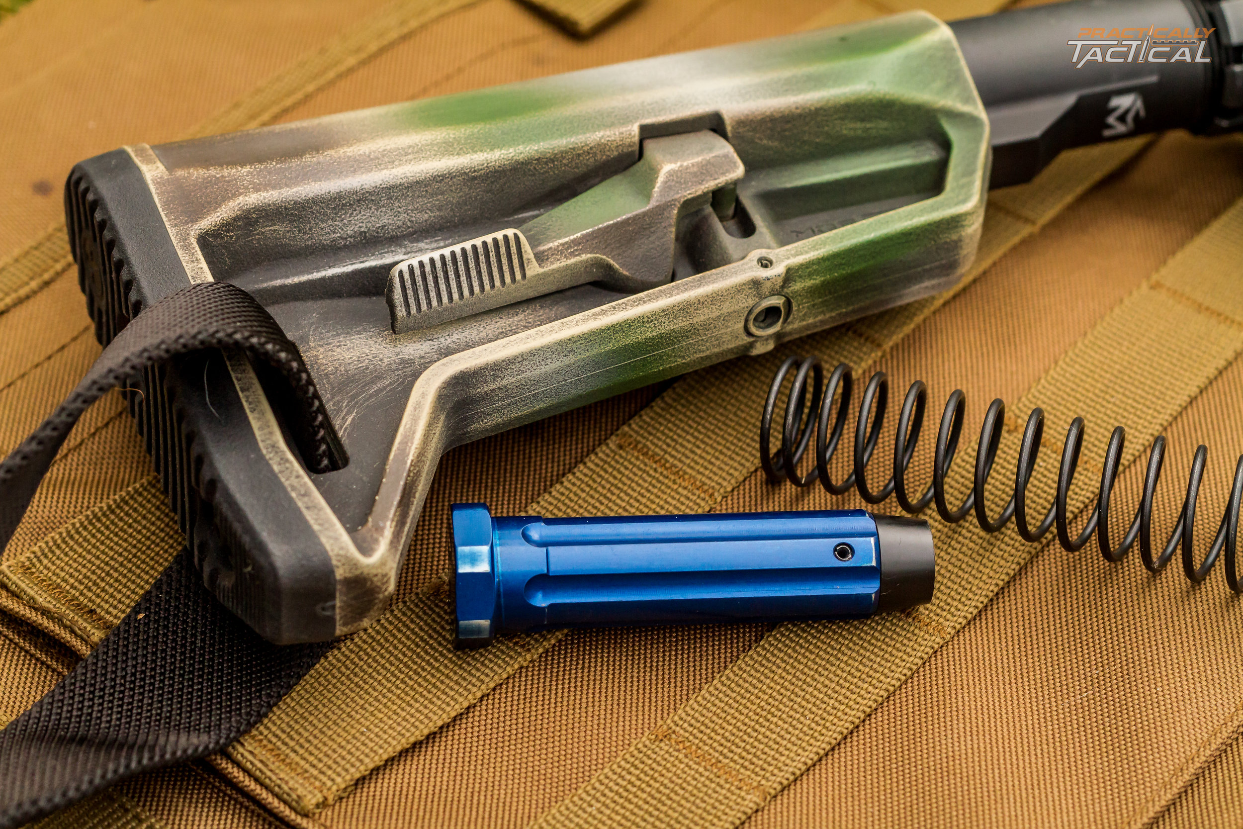 The SL-K stock compliments this rifle perfectly with it's lightweight compact design