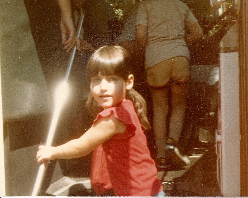 Taking it back to the beginning: Me getting on the bus on the first day of kindergarten. What did she believe was possible for herself and her life?