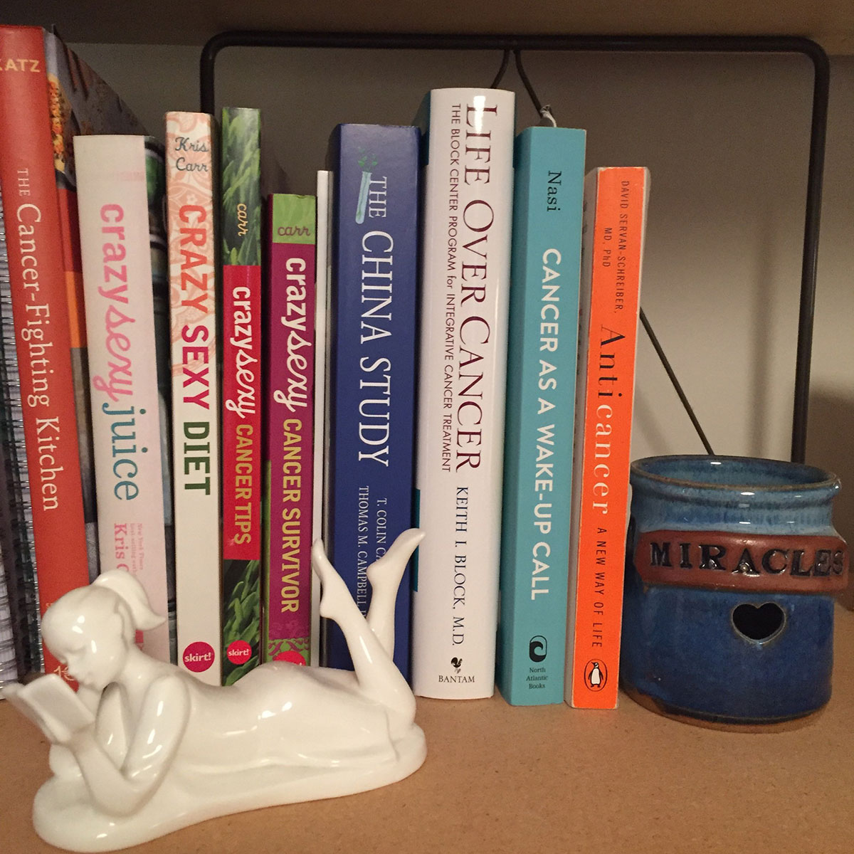 Create your own cancer-fighting bookshelf.