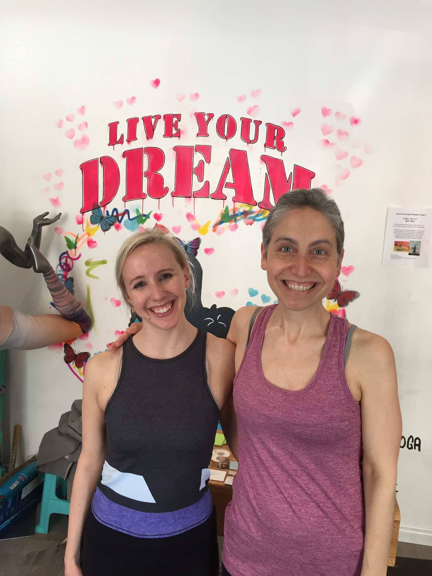 Jen and Lauren at Prospect Heights Yoga