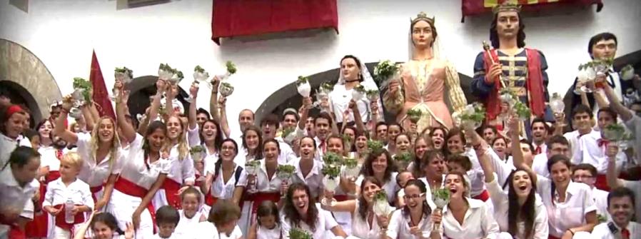 Festes de Sant Roc. Plaça de la Vila d'Arenys de Mar