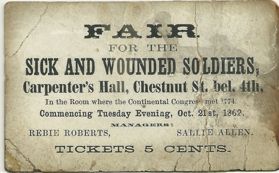 Fair for the sick and wounded