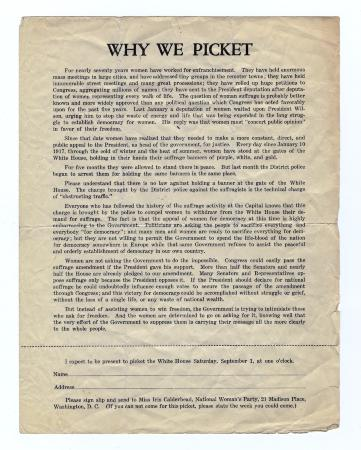 Why We Picket