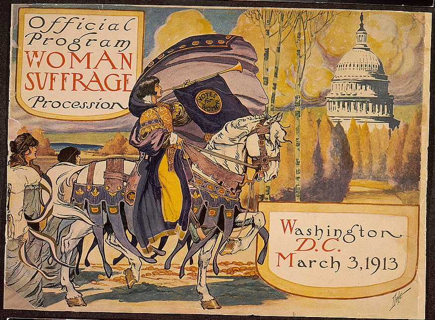 Official program of the woman suffrage procession in Washington, D.C. on March 3, 1913, Library of Congress.
