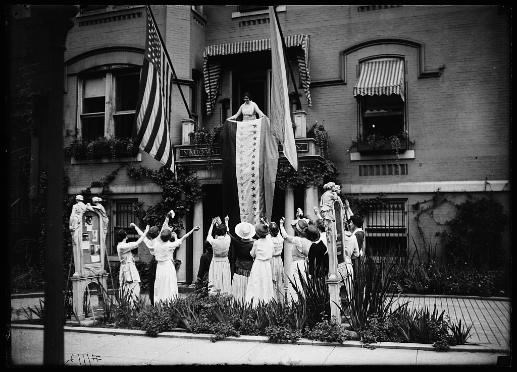 In front of National Woman's Party headquarters, Washington, D.C.