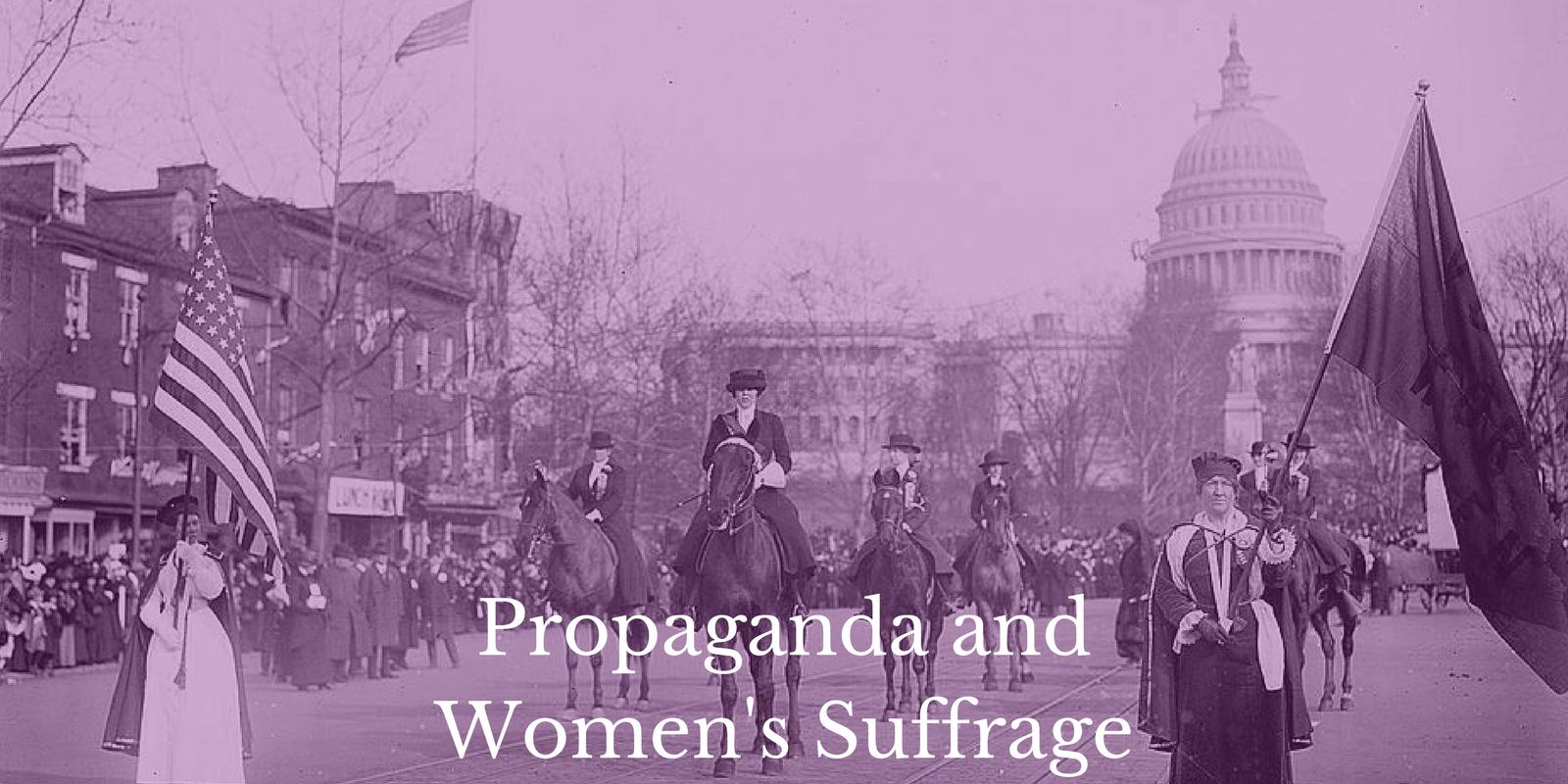 Lesson Plan Propaganda and Women's Suffrage