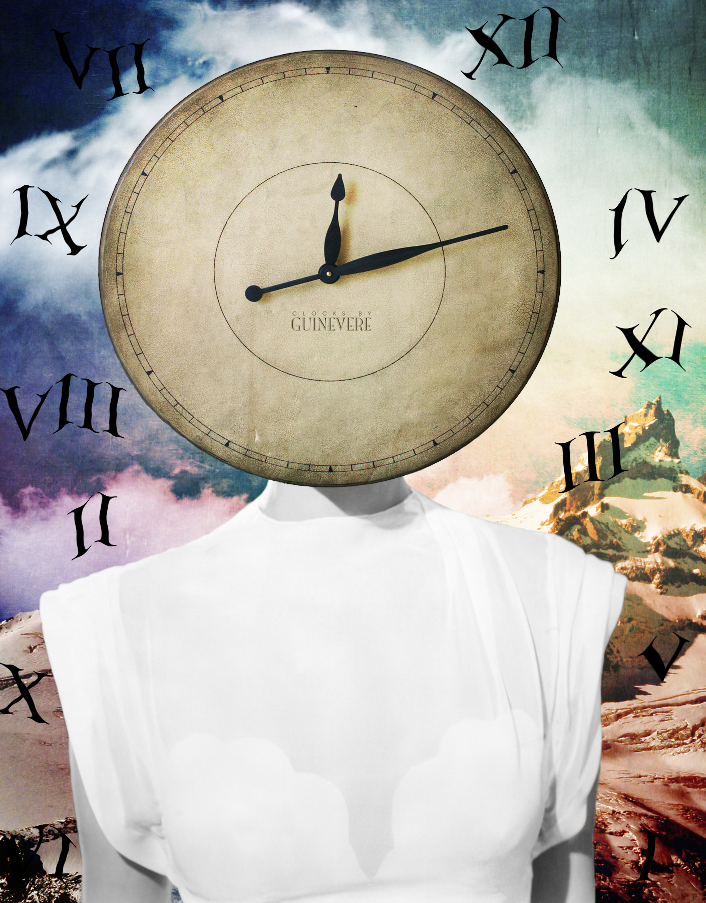 Jenkins, Cheyenne. Ticking Clock. 2015. Digital Collage. Montreal, Quebec