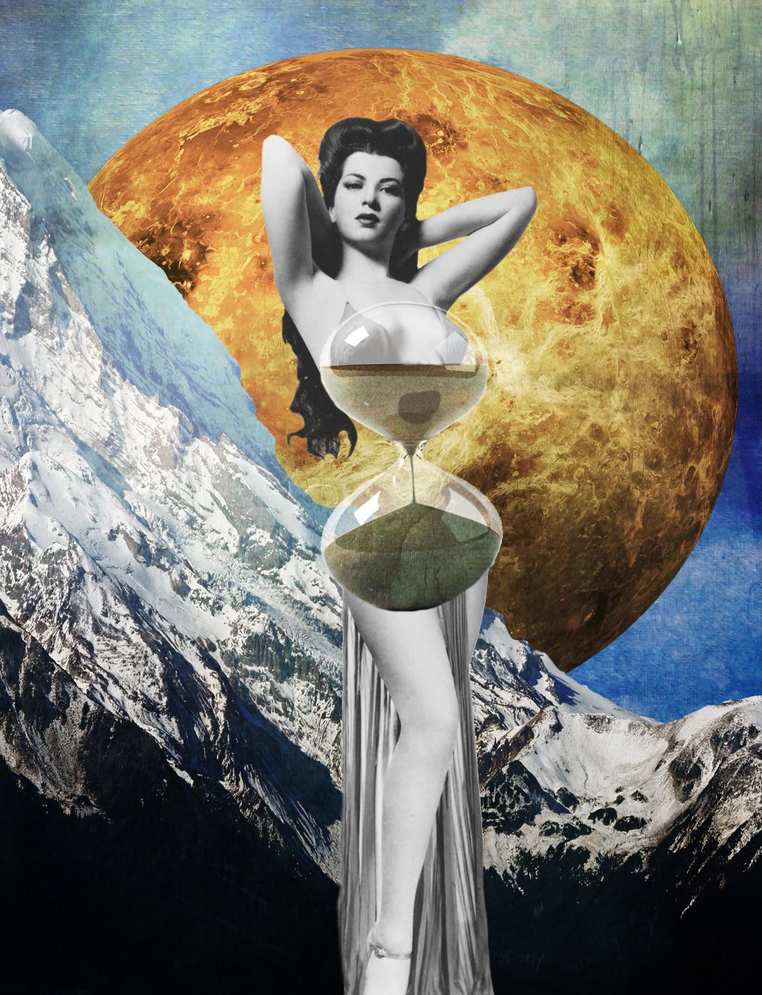 Jenkins, Cheyenne. Hourglass. 2015. Digital Collage. Montreal, Quebec