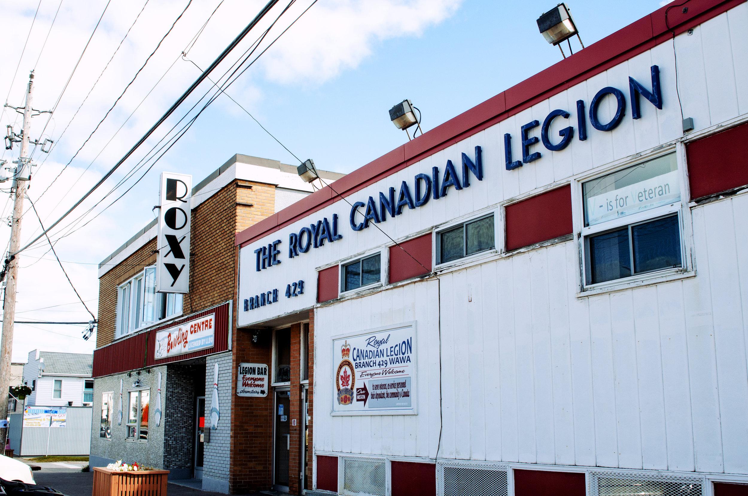 Jenkins, Cheyenne. Royal Canadian Legion. 2017. Digital Photography. Wawa, Ontario