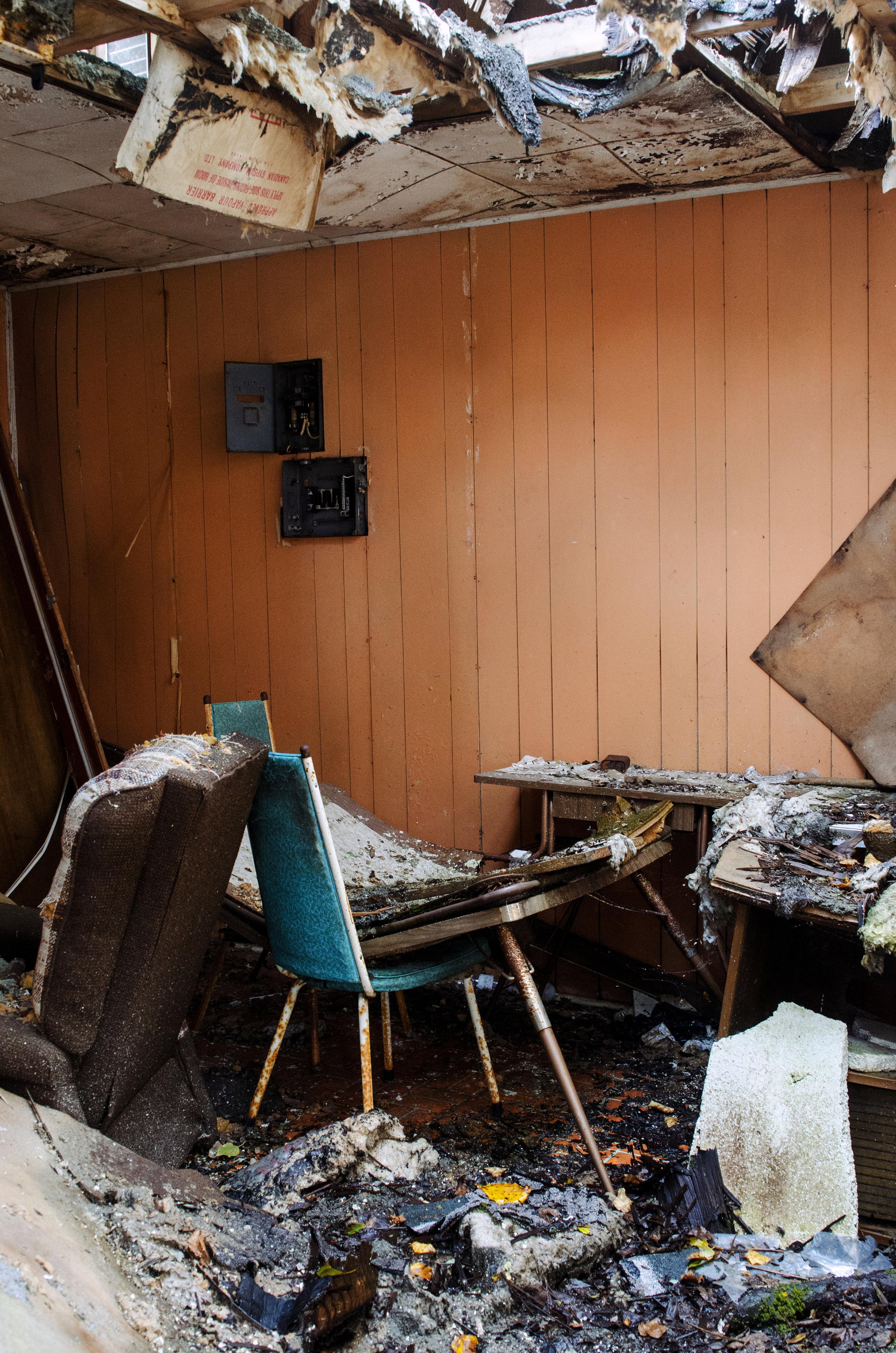 Jenkins, Cheyenne. Fallen Ceiling. 2017. Digital Photography. Wawa, Ontario