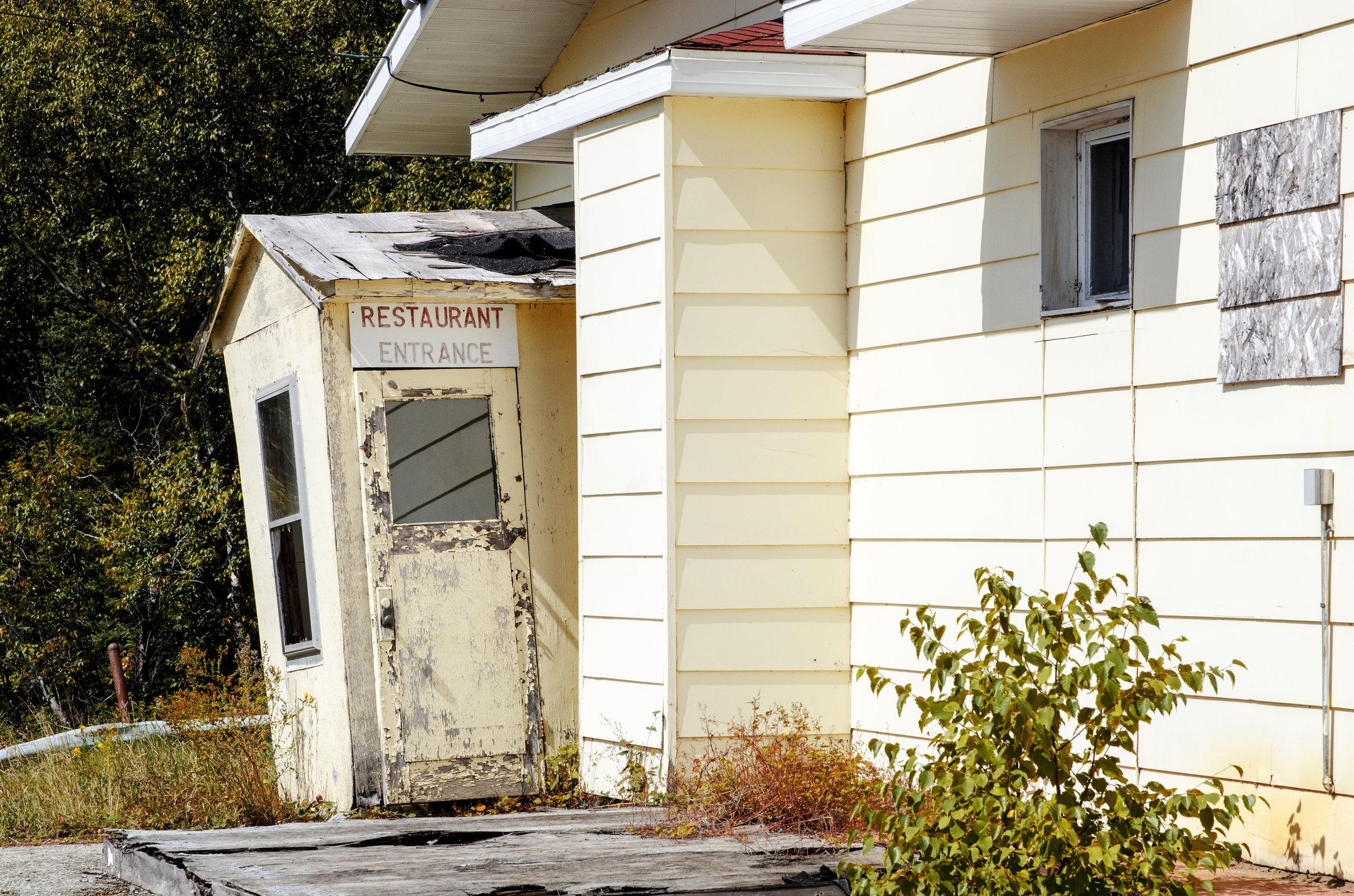 Jenkins, Cheyenne. Restaurant Entrance. 2017. Digital Photography. Wawa, Ontario