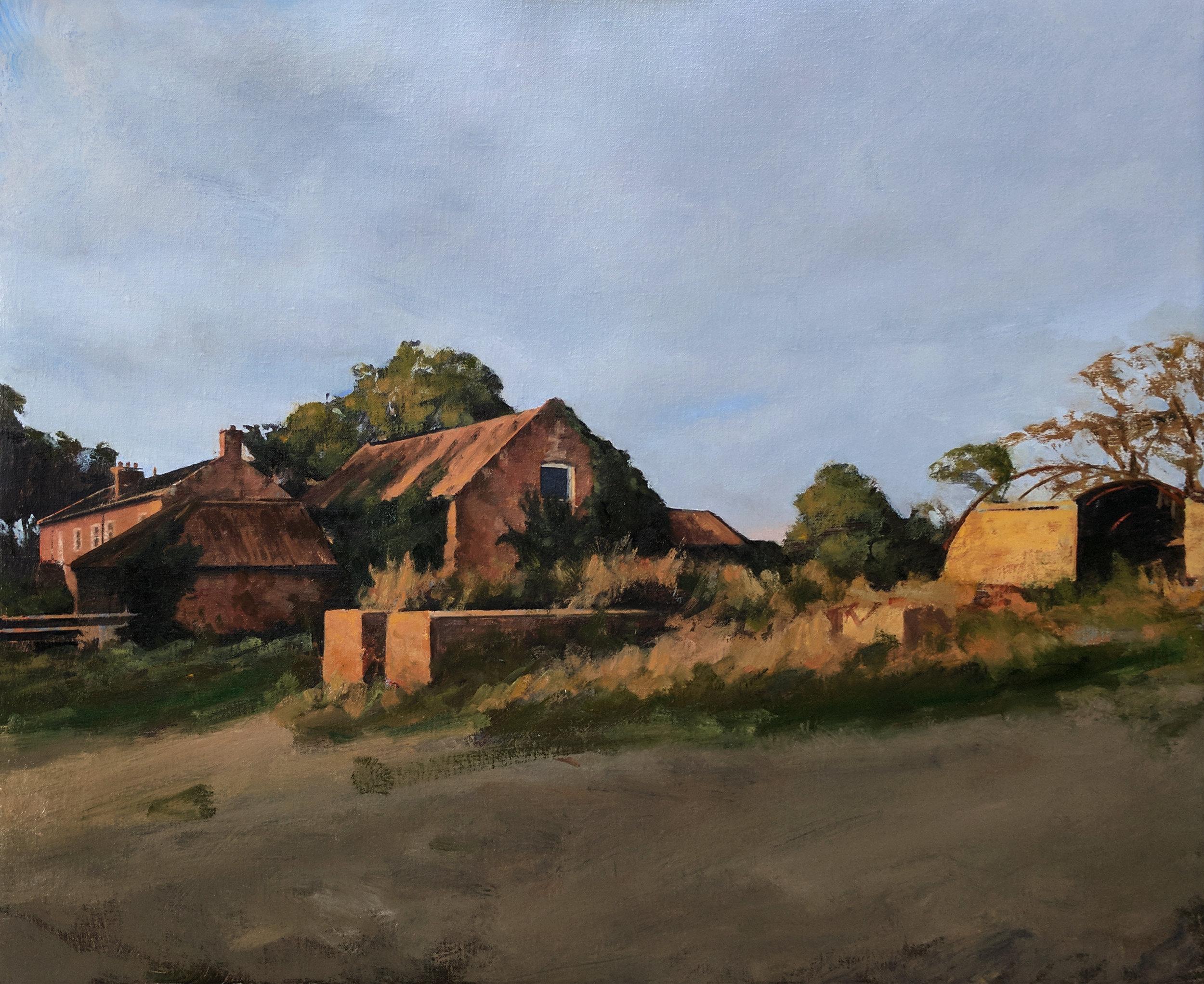Ashby Hall Farm at sunset