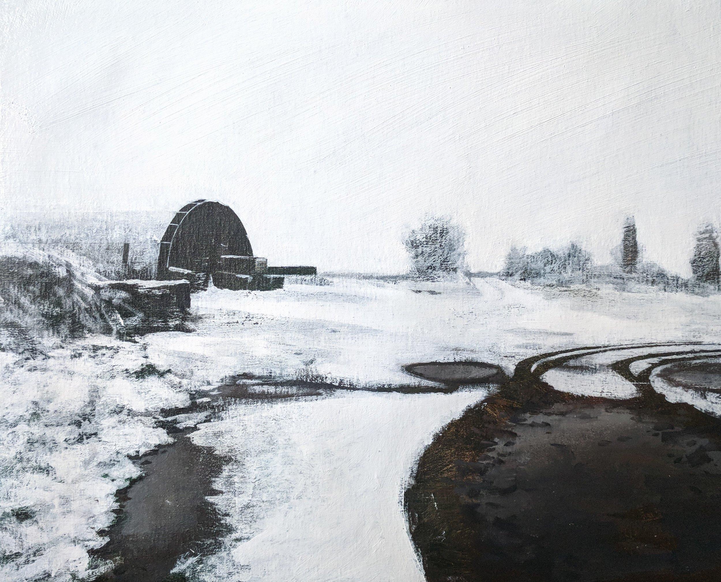 Ashby under snow