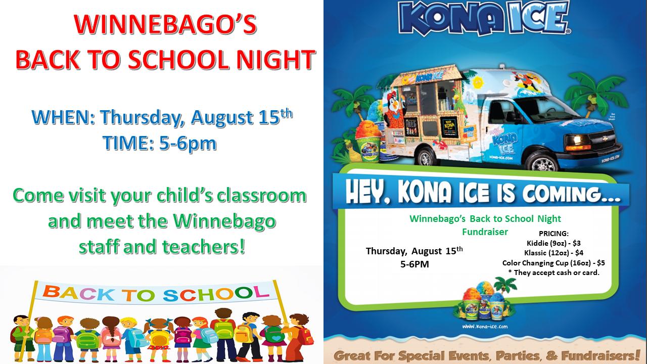 Back to School Night! — Winnebago Elementary School
