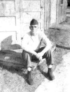 My father at 17 at Parris Island, SC.