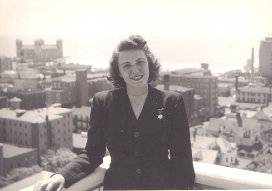 My mother, 1949.