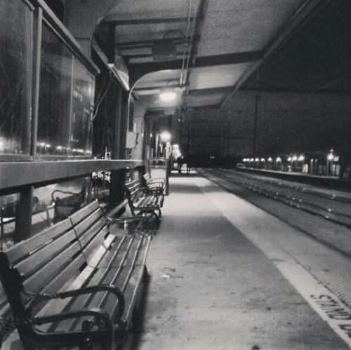 Old-time New Brunswick, NJ train station.