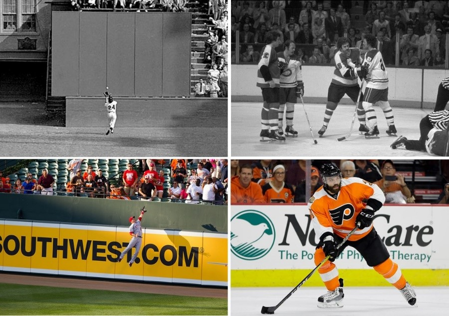 Notice how sports arenas have become advertising venues over the last 50 years.