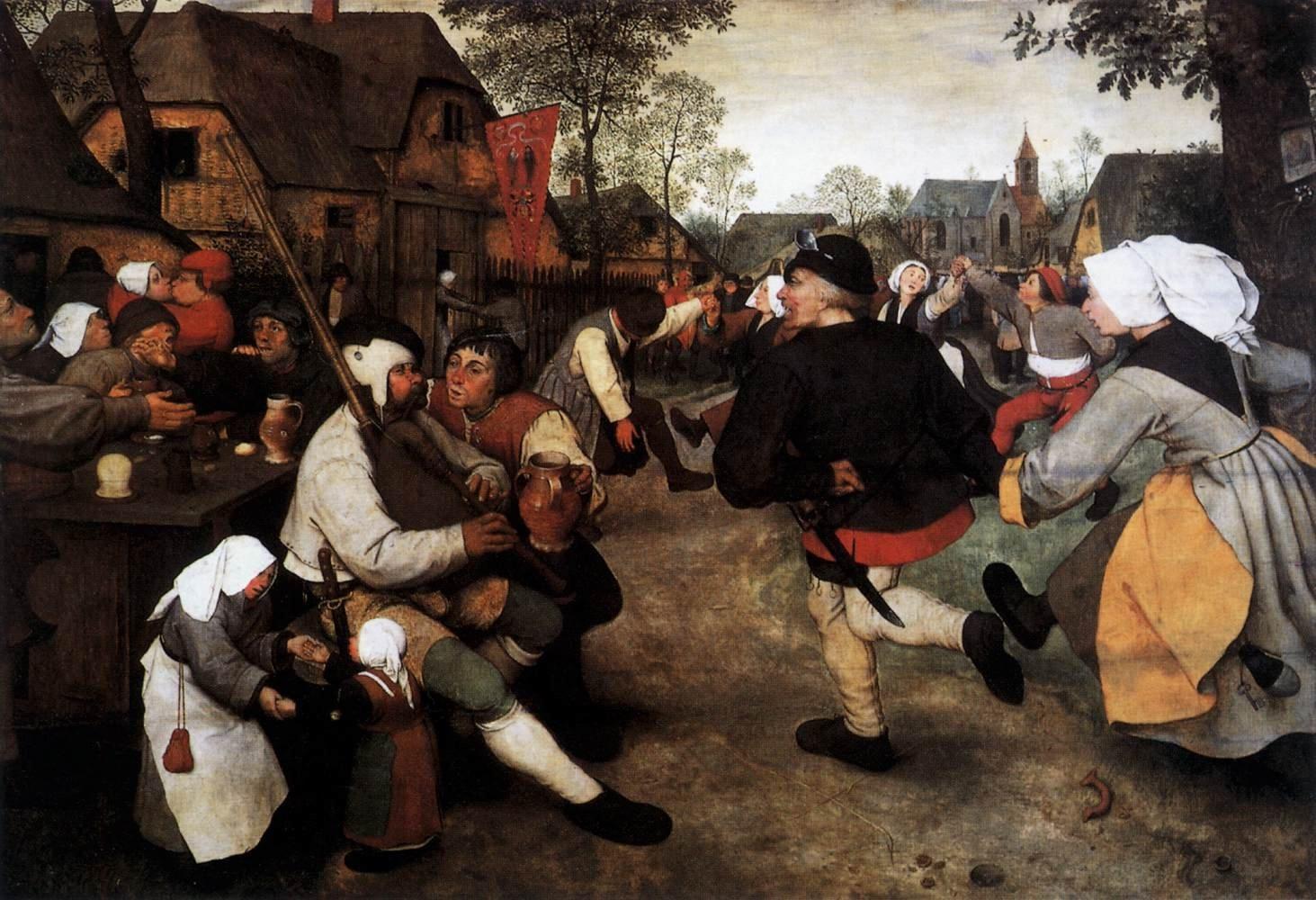 """""""The Peasant Dance"""" (1568) Pieter Bruegel the Elder"""