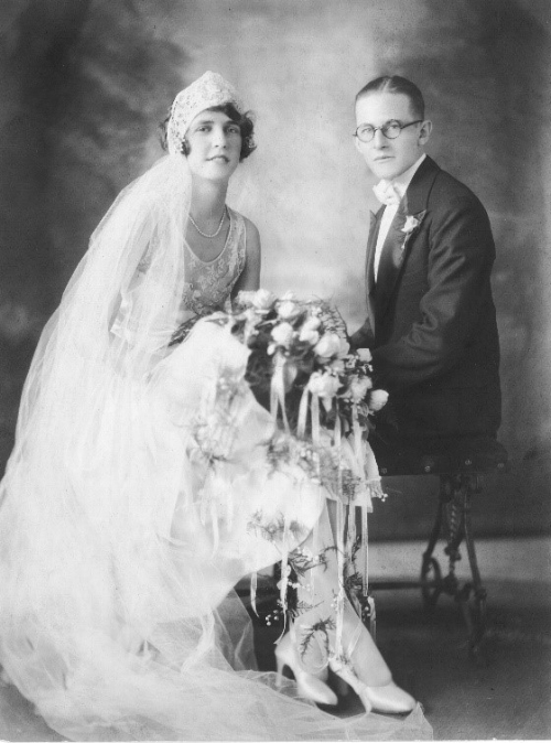 Happy Aunt Ada and tragic Uncle George, August 18, 1928.