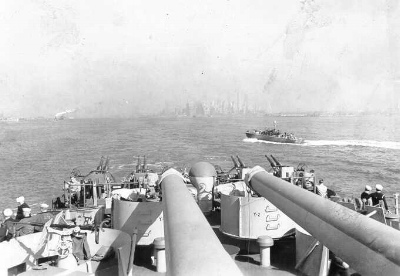 Leaving New York, 1944.