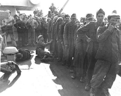 German prisoners onboard USS Texas.