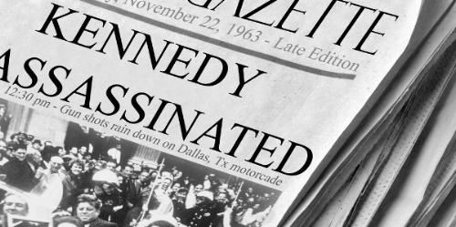 Headlines on November 22, 1963.