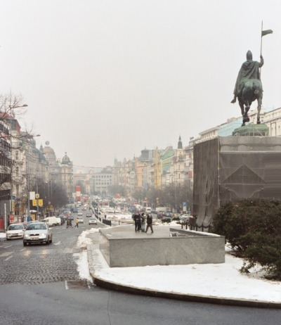 Wenceslas Square, Prague, looking northwest.