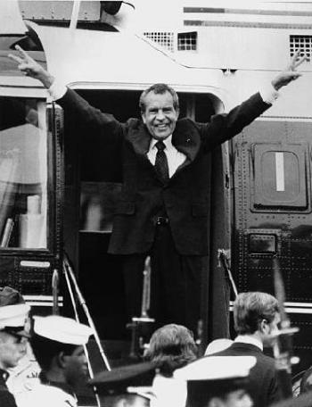 """""""I said things that were not true,"""" said Richard Nixon."""