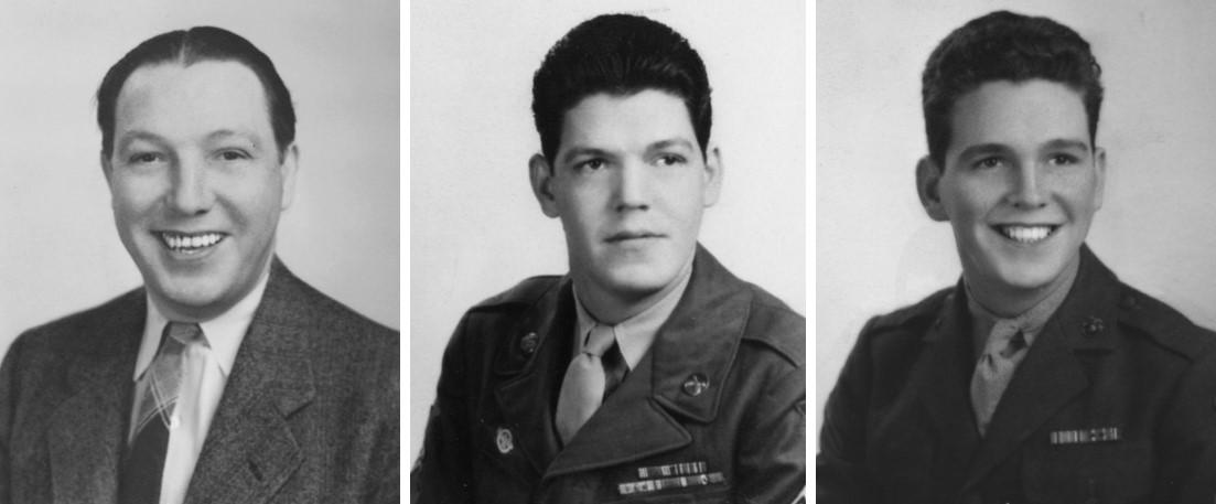 William J. Pawley, Sr., William J Pawley Jr., John P. Pawley (L to R)