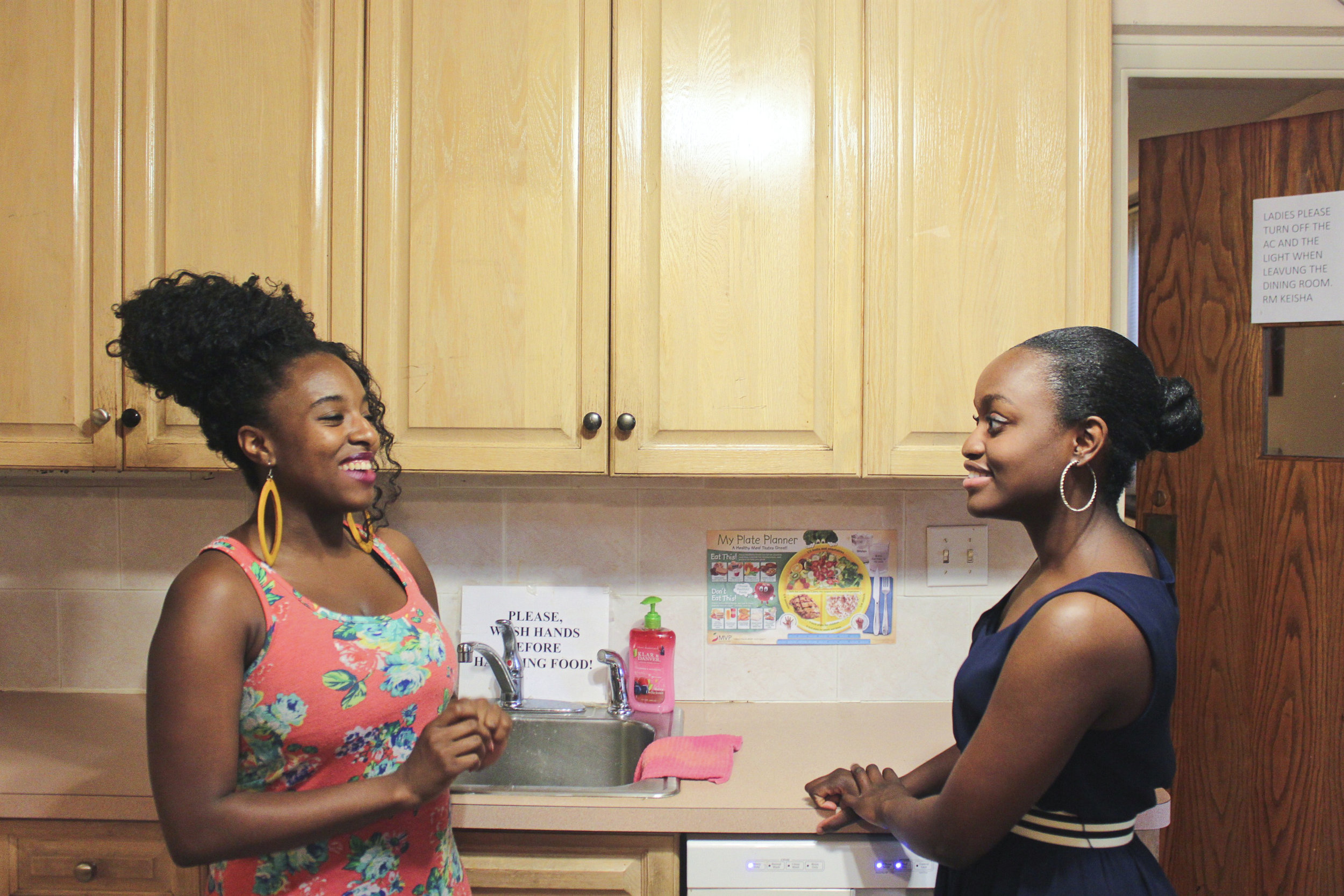 Janice, a residence manager, and Tiffany, at our Providence House in Jamaica, Queens.