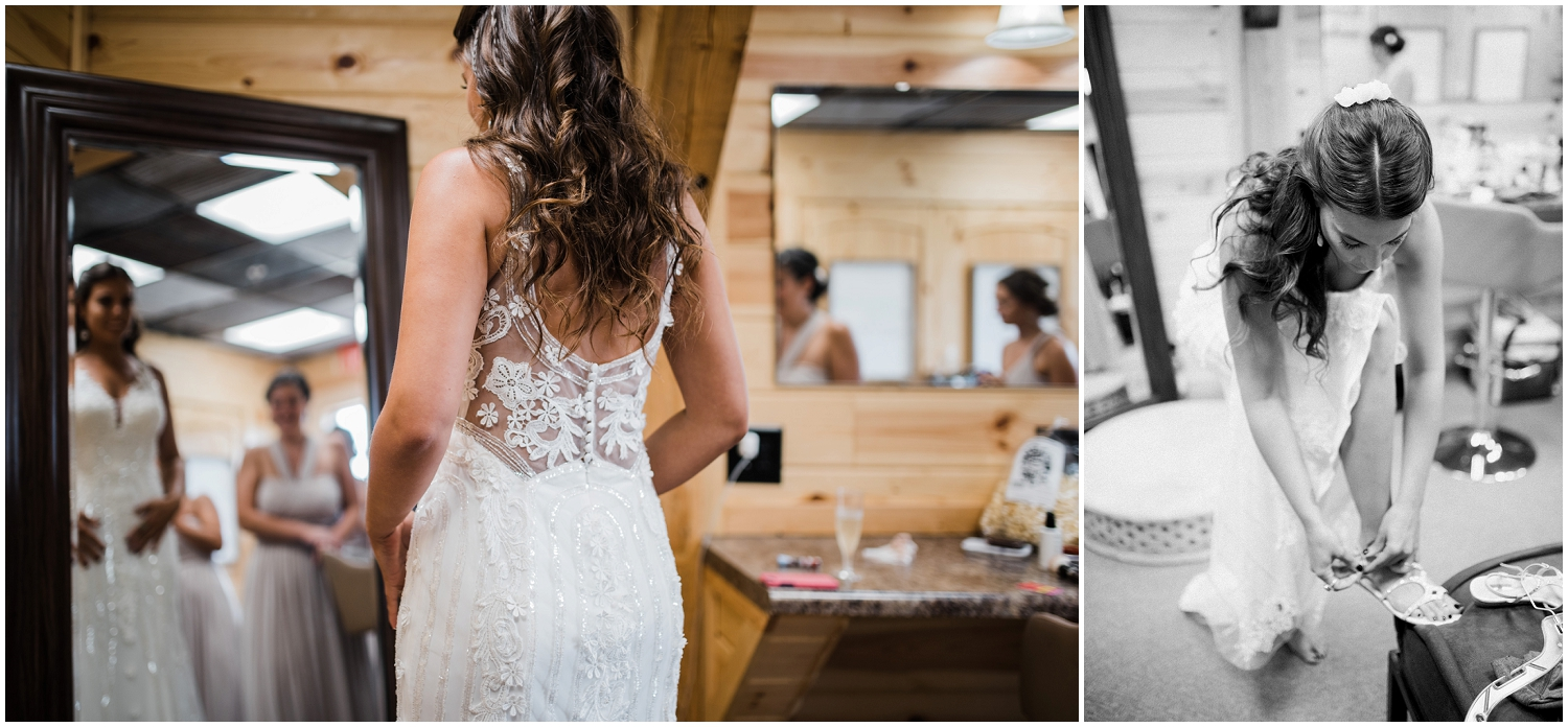 Bride getting ready at Rolling Meadows Ranch