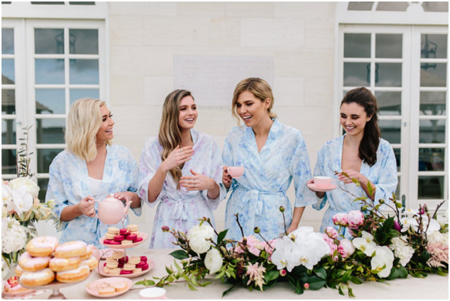Brunch it up with your ladies in these adorable colored robes.