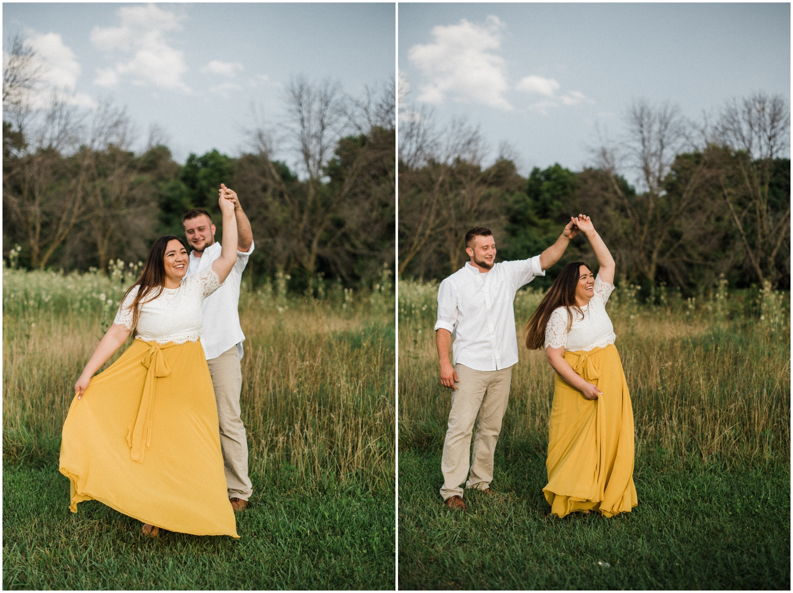 couple dancing Rolling Meadows Ranch in Lebanon, OH