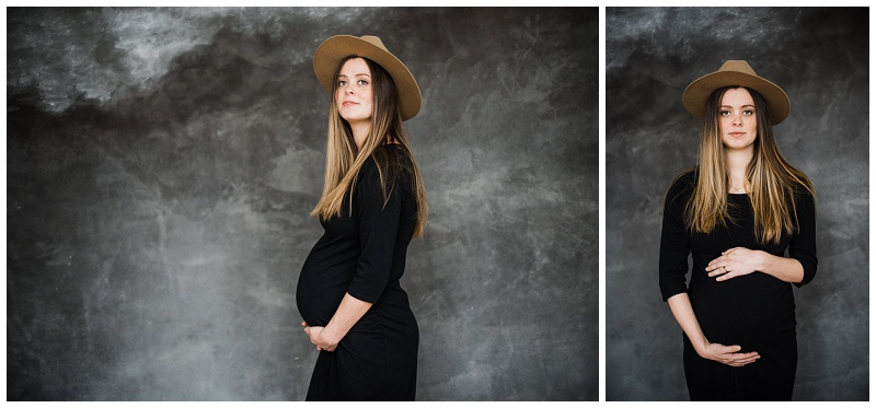 Studio Maternity Portraits | Studio 42 + Verdigris Backdrops