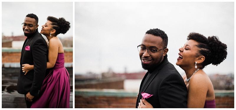 Rooftop Anniversary Portraits | Dayton, Ohio