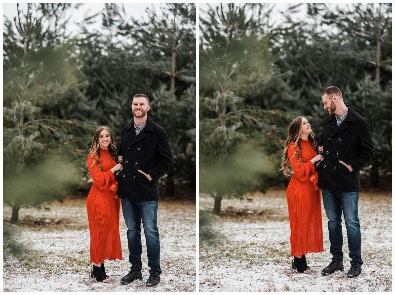 Wintery Outdoor Engagement Session | Englewood, Ohio
